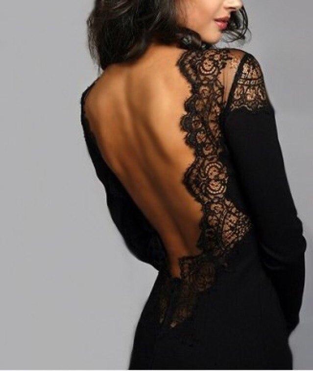Платья с открытой кружевной спиной